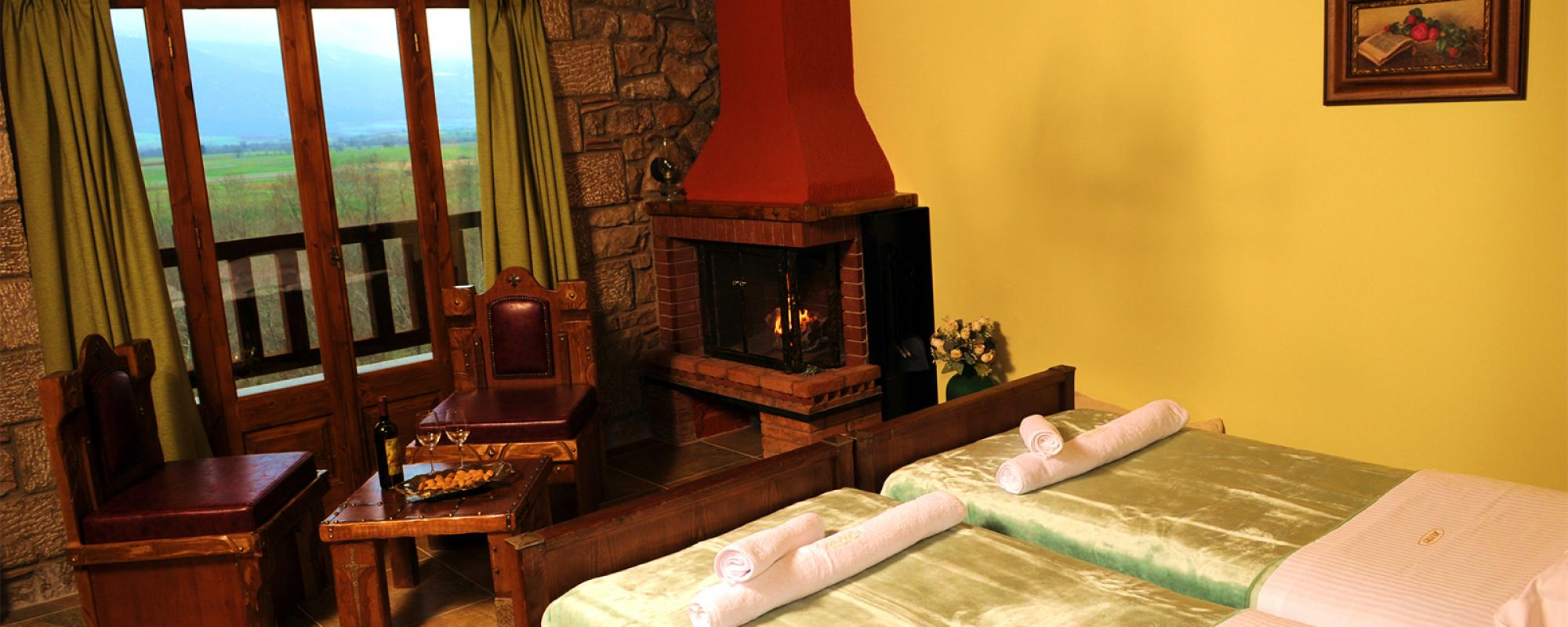 Delux Double Room with Fireplace